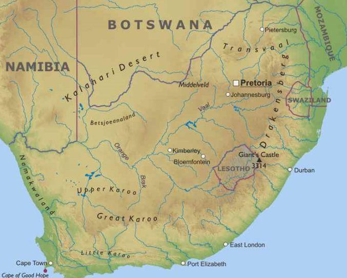 Cartina Dell Africa Meridionale.Sudafrica Africa Meridionale Africa Paesi Home Unimondo Atlante On Line