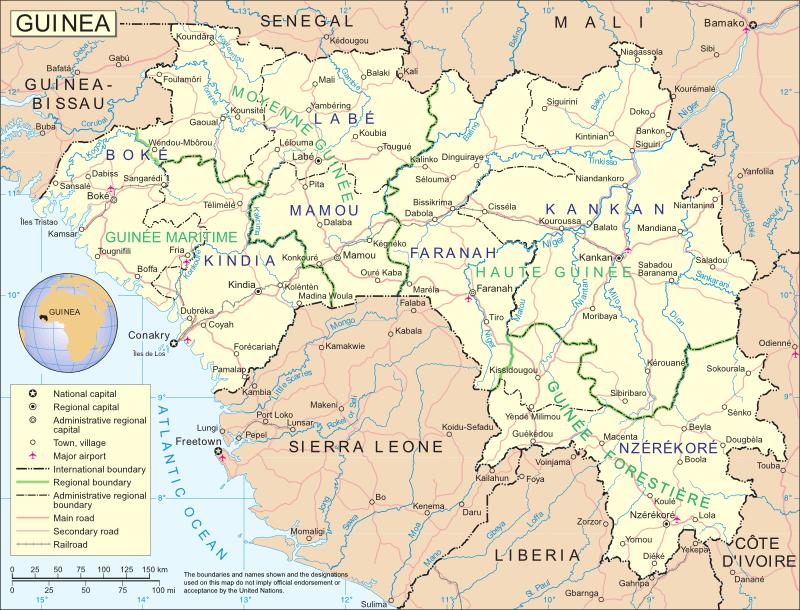 Guinea Cartina Geografica.Guinea Africa Occidentale Africa Paesi Home Unimondo Atlante On Line