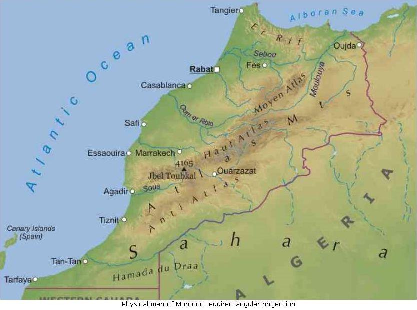 Cartina Geografica Marocco.Marocco Lessons Tes Teach