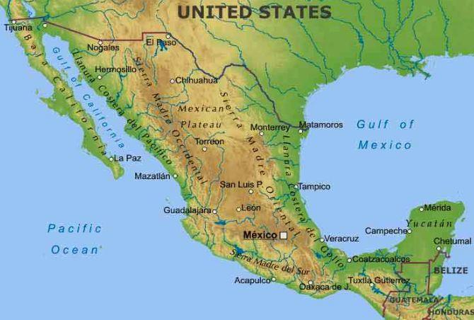 Cartina Fisica Dell America Centrale.Messico America Centrale Americhe Paesi Home