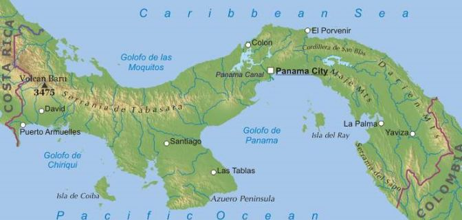 Cartina Fisica Dell America Centrale.Panama America Centrale Americhe Paesi Home