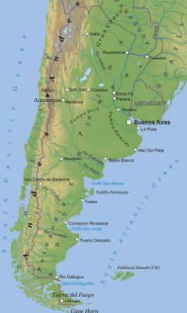 Argentina america meridionale americhe paesi home - Mappa messico mappa da colorare pagina ...