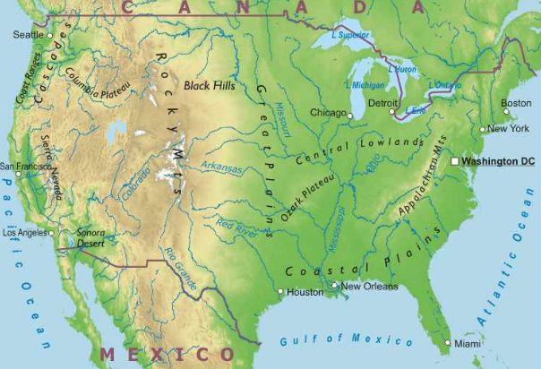 Stati Uniti Cartina Fisica E Politica.Stati Uniti Lessons Blendspace