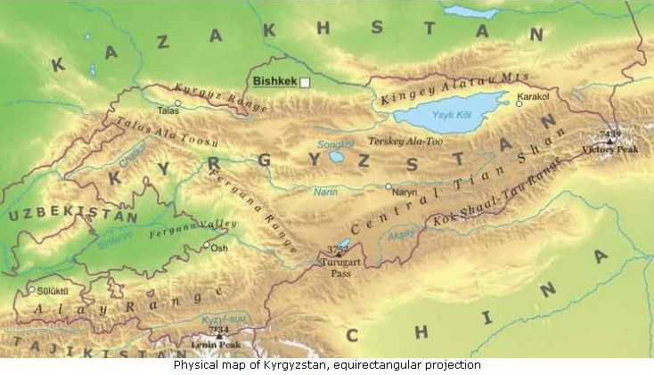 Asia Centrale Cartina Geografica.Kirghizistan Asia Centrale Asia Paesi Home Unimondo Atlante On Line