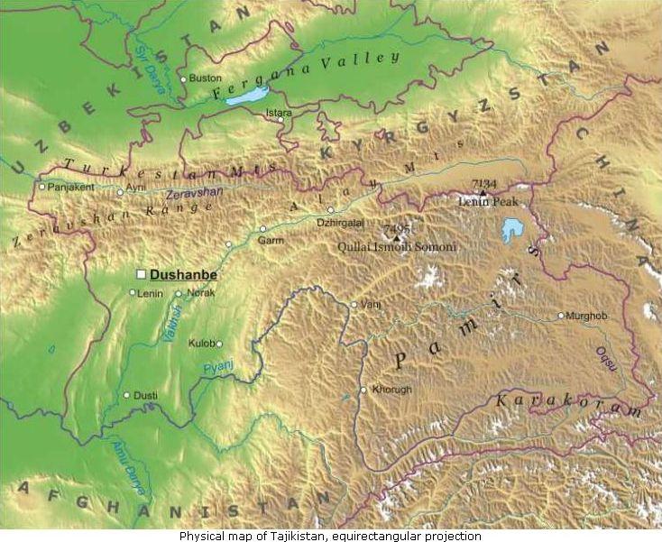 Asia Centrale Cartina Geografica.Tagikistan Asia Centrale Asia Paesi Home Unimondo Atlante On Line