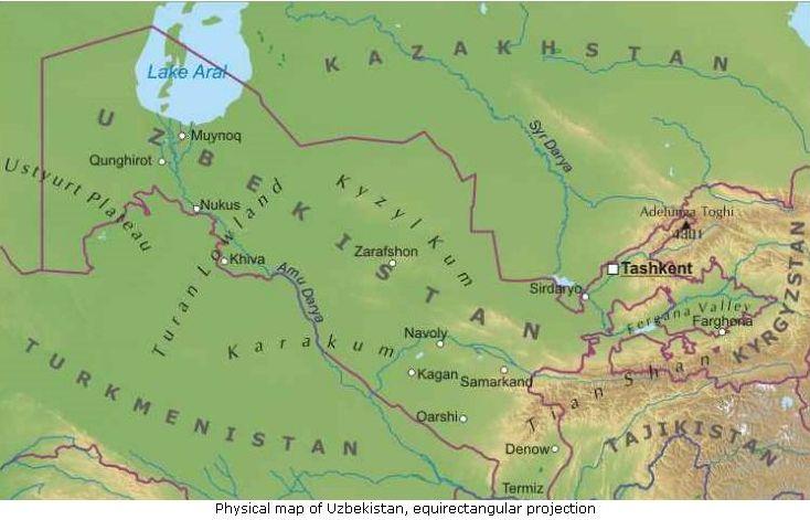 Asia Centrale Cartina Geografica.Uzbekistan Asia Centrale Asia Paesi Home Unimondo Atlante On Line