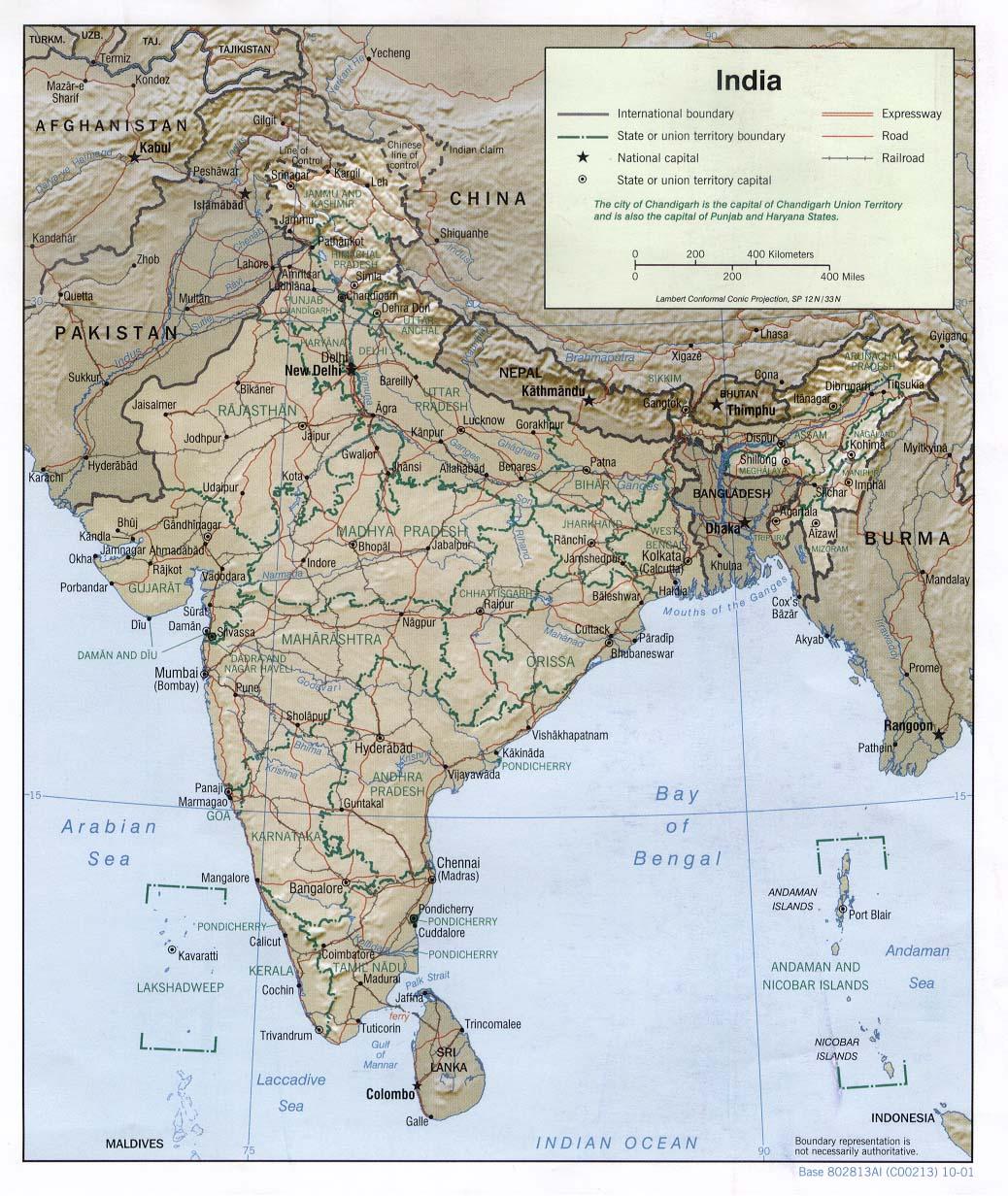 Cartina India Hd.India Asia Meridionale Asia Paesi Home Unimondo Atlante