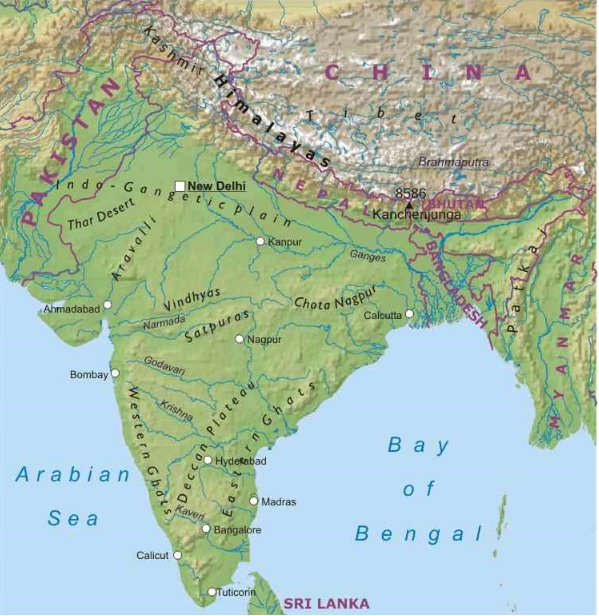 India Meridionale Cartina Geografica.India Asia Meridionale Asia Paesi Home Unimondo Atlante On Line