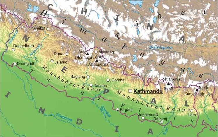 Cartina Dettagliata Del Nepal.Nepal Asia Meridionale Asia Paesi Home Unimondo Atlante