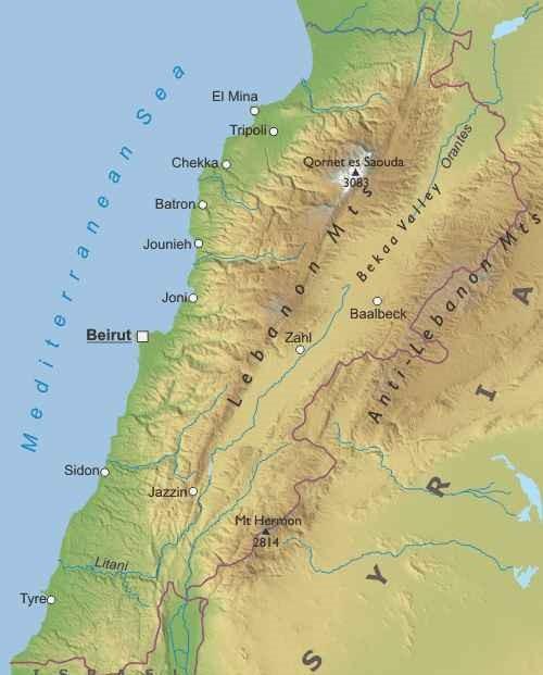 Cartina Fisica Palestina.Libano Asia Occidentale Asia Paesi Home Unimondo Atlante On Line