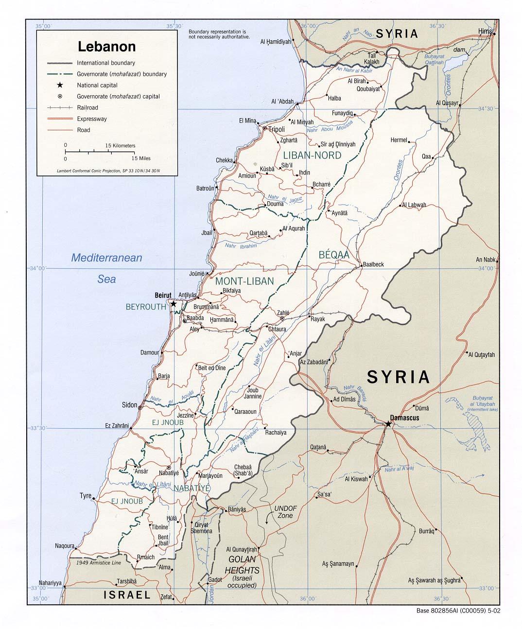 Cartina Politica Del Libano.Libano Asia Occidentale Asia Paesi Home Unimondo Atlante On Line
