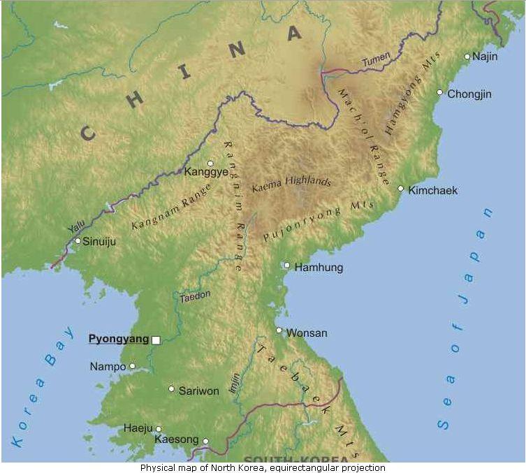 Asia Orientale Cartina Politica.Corea Del Nord Mappa Politica