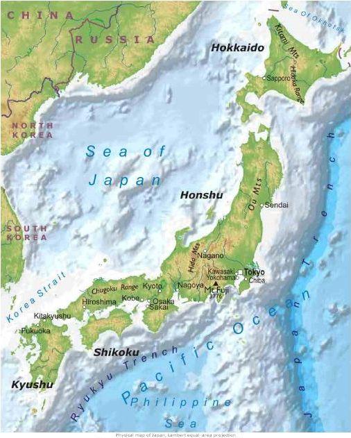 Cartina Fisica Del Giappone In Italiano.Geo 3 Giappone