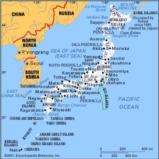 Cartina Del Giappone Politica.Giappone Cartina Politica
