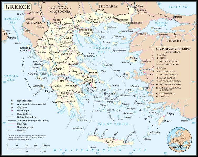 Cartina Della Grecia Politica.Grecia Europa Meridionale Europa Paesi Home Unimondo