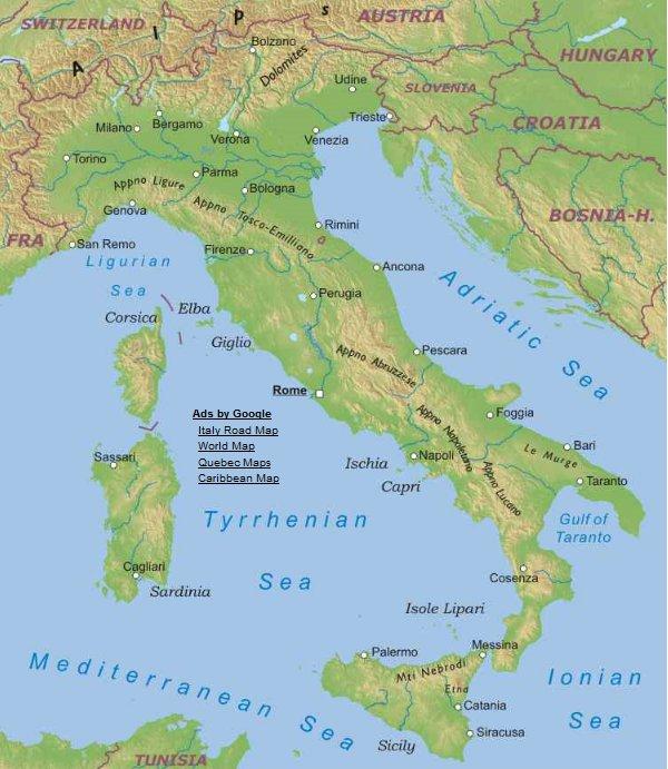 Cartina Fisica Dell Italia Centrale.Italia Europa Meridionale Europa Paesi Home Unimondo Atlante On Line