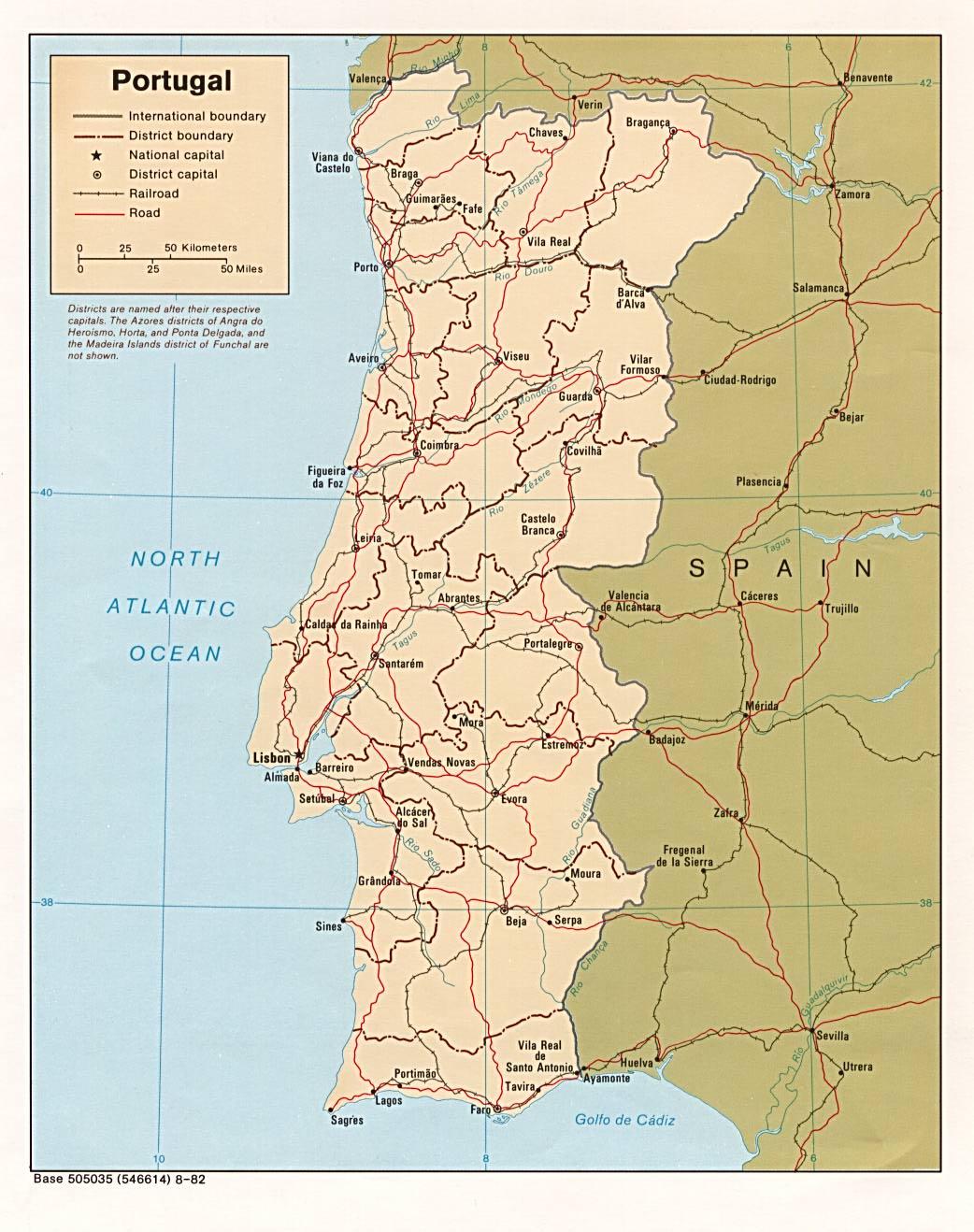 Cartina Del Portogallo Da Stampare.Mappa Portogallo Da Stampare