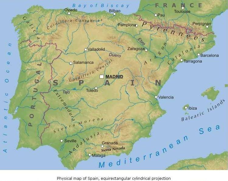 Cartina Fiumi Spagna.Spagna Junglekey It Immagini 50