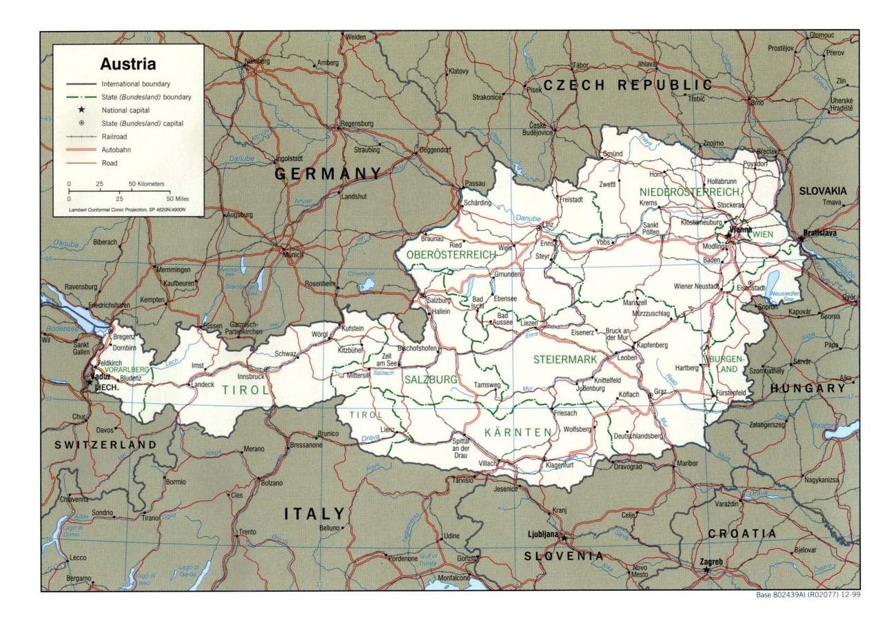 Cartina Fisica Austria.Austria Europa Occidentale Europa Paesi Home