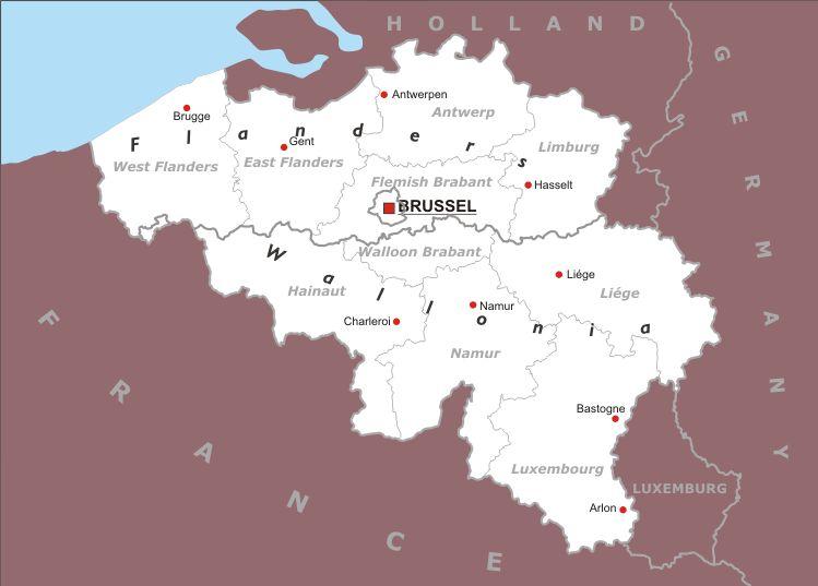 Cartina Fisica Belgio.Belgio Europa Occidentale Europa Paesi Home Unimondo Atlante On Line