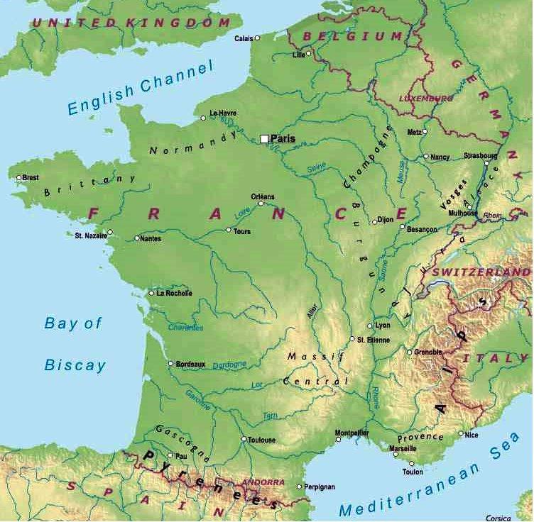 Cartina Della Francia Fisica.La Francia Lessons Tes Teach