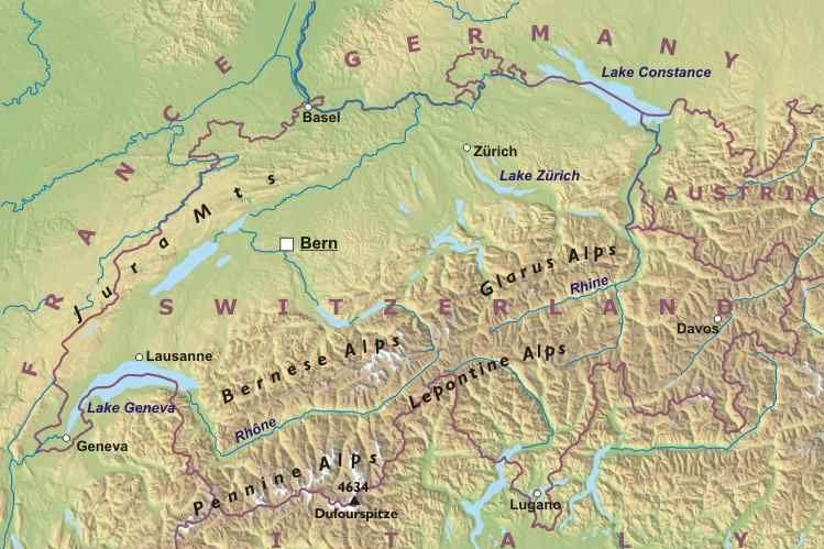 Cartina Geografica Politica Svizzera.Svizzera Europa Occidentale Europa Paesi Home Unimondo Atlante On Line