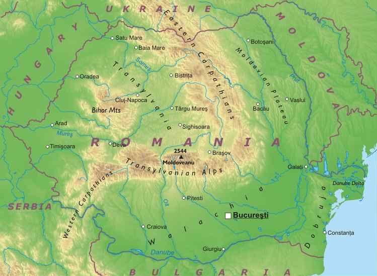 Cartina Geografica Politica Della Romania.Romania Cartina