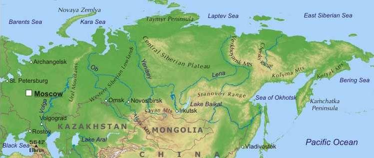 Cartina Fisica Russia Asiatica.Russia Europa Orientale Europa Paesi Home Unimondo Atlante On Line