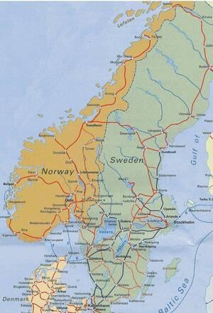 Norvegia Cartina Stradale.Norvegia Europa Settentrionale Europa Paesi Home Unimondo Atlante On Line
