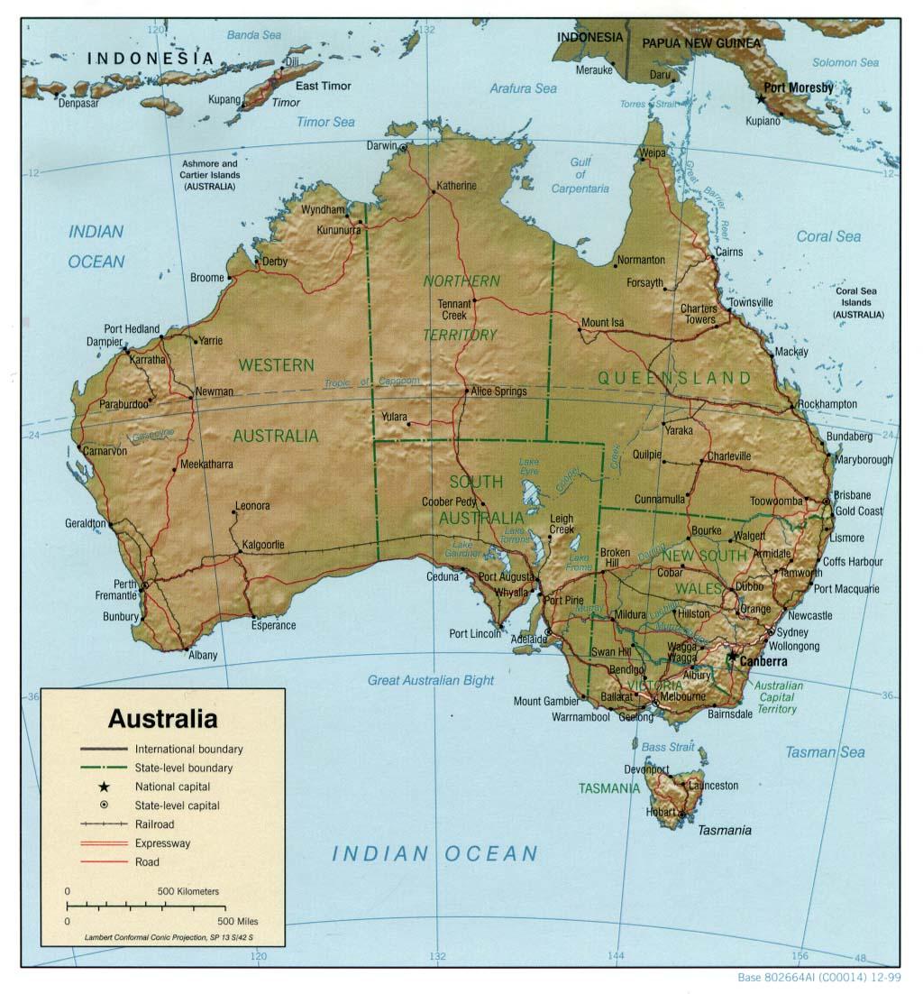 Cartina Geografica Australia E Nuova Zelanda.Australia Australia E Nuova Zelanda Oceania Paesi Home