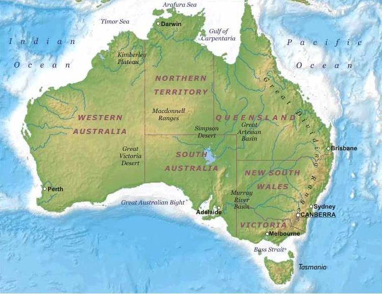 Australia Mappa Geografica ile ilgili görsel sonucu Australia Mappa Geografica